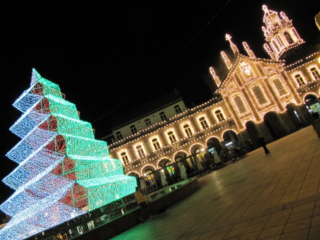 Christmas decorations in Braga